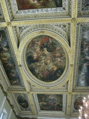 Ceiling in the Banqueting House painted by Peter Paul Rubens.