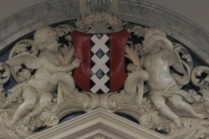 Amsterdam Coat of Arms, as displayed on the Westerkerk (Western Church) in Amsterdam