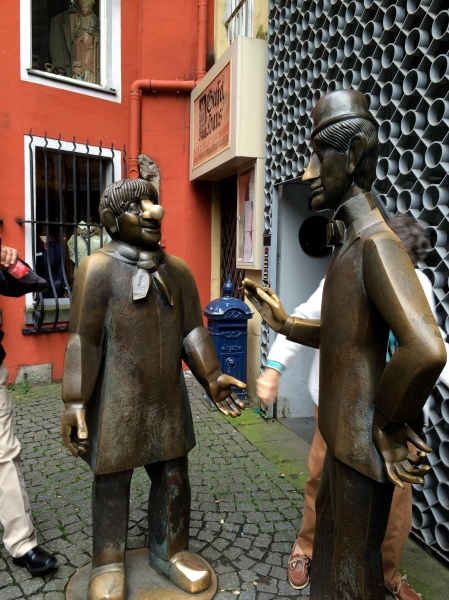 Comical statues in Cologne, 10-17-14 (photo taken by Sue)