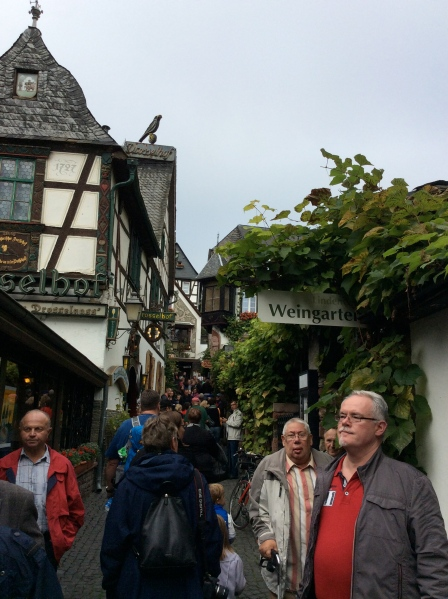 A Wine Garden along the Drosselgasse (narrow street in Rüdesheim), 10-18-14