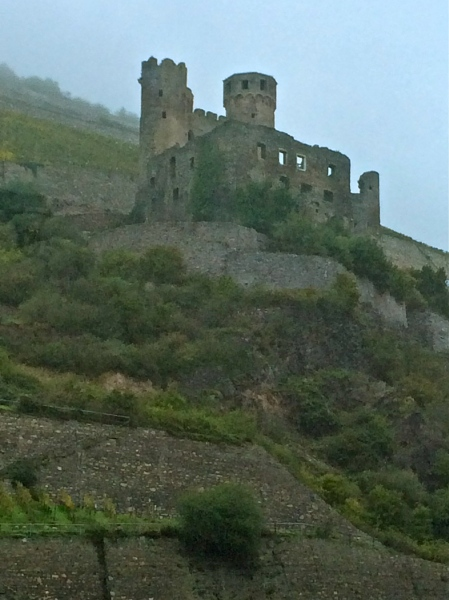 Ehrenfels Castle, in ruins, 10-18-14
