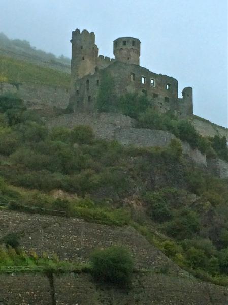 Ehrenfels Castle, in ruins, 10-18-14