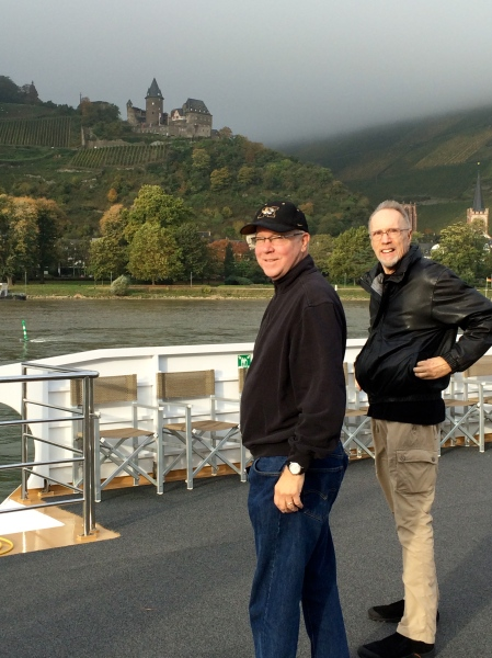 Tom & Bill viewing Stahleck Castle, 10-18-14