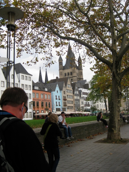 Bill walking toward the Altstadt area, 10-17-14