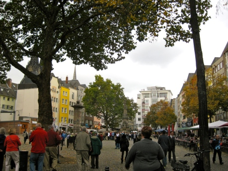 The Altstadt town square area of Cologne, 10-17-14