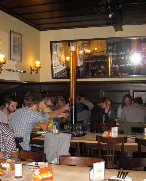 The best way to order a lot of Kolsch Bier in Cologne!  (10-17-14)