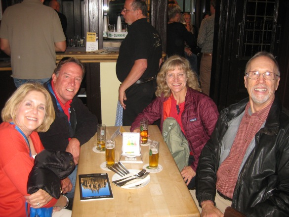 Susan, Bill, Dallas, & Bill G. drinking our Sunner Kolsch Bier, 10-17-14