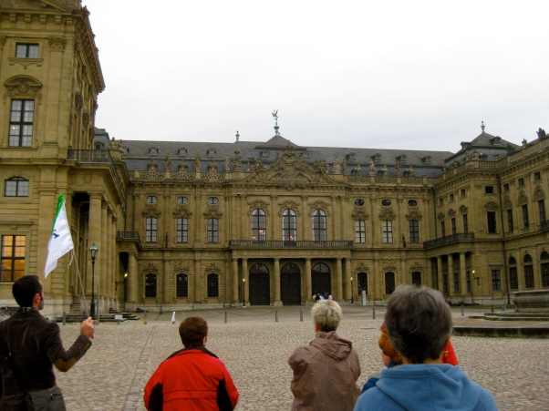 Following Flo, the tour guide, up to the Residenz, 10-20-14
