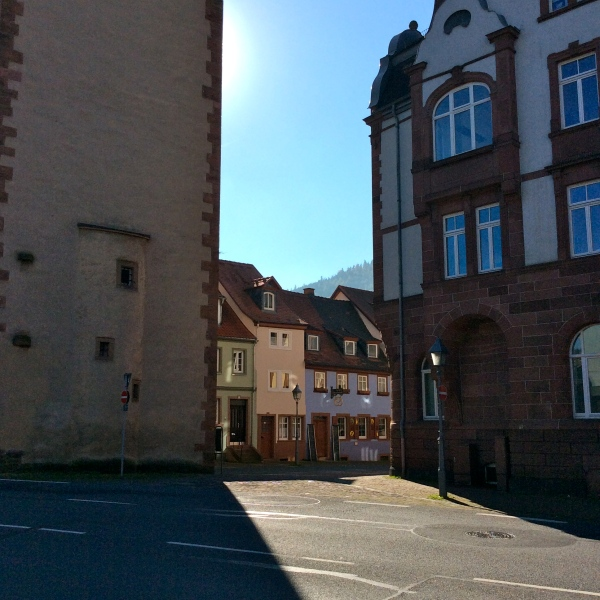 Entry to the Hauptstrasse, the Würzburg Gate on left, 10-19-14