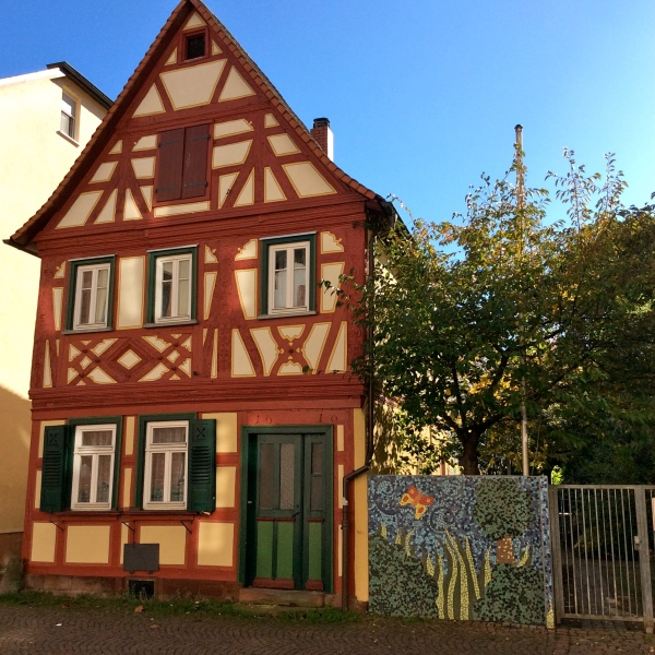 Interesting timbered building along the Hauptstrasse, 10-19-14