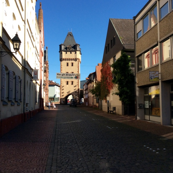 Looking back to the Würzburg Gate, walking along the Hauptstrasse, 10-19-14