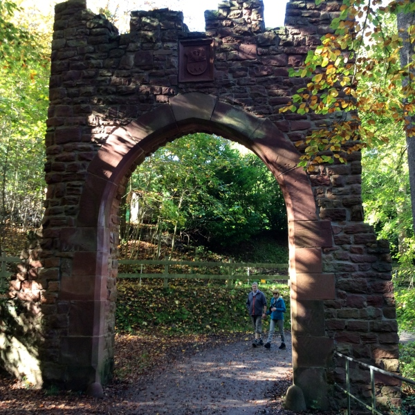 A gate to the castle area, 10-19-14