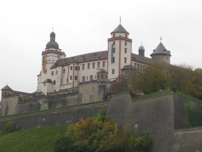 The Marienberg Fortress (castle) overlooking the city of Würzburg, 10-20-14