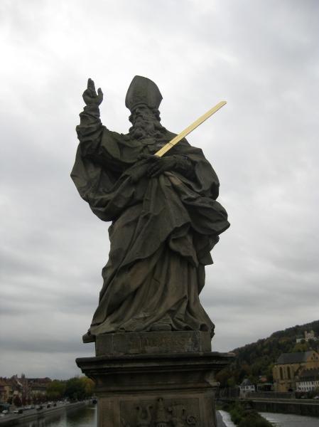 St. Kilian statue on the bridge, 10-20-14