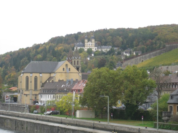 The Käppele on a hill to the side of the Marienberg Fortress, 10-20-14