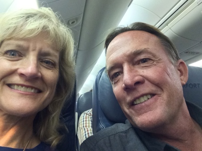 Dallas & Bill on the plane, 10-14-14