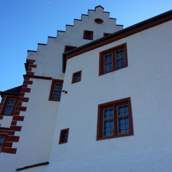 "The castle's ""crow-step"" gables, 10-19-14"