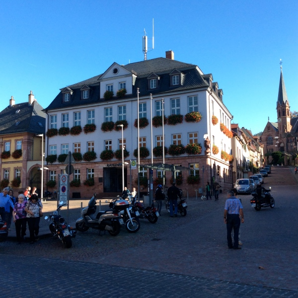 The Altes Rathaus (Old City Hall) of Miltenberg, which dates back to the 14th century, 10-19-14