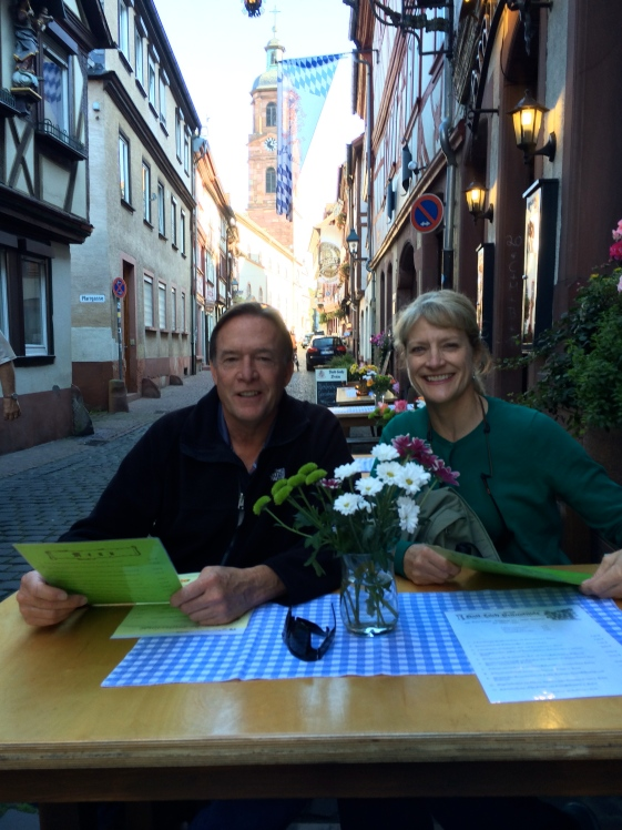Bill and Dallas at the restaurant in Miltenberg, 10-19-14