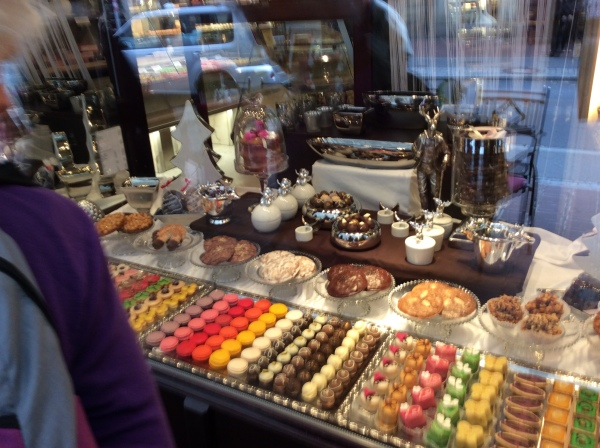 Colorful goodies in a Bamberg store we passed, 10-21-14