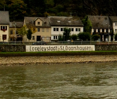 Village of St. Goarshausen, near the Lorelei rocks on the Rhine River, 10-18-14