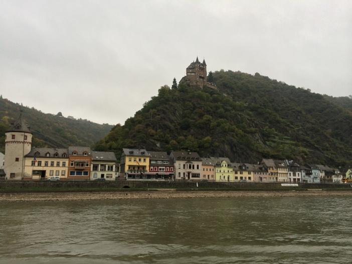 Katz Castle & St. Goarshausen in Rhineland-Palatinate, 10-18-14