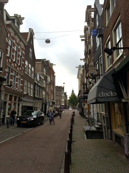 Amsterdam street, near the store where I bought my shoes!  10-16-14