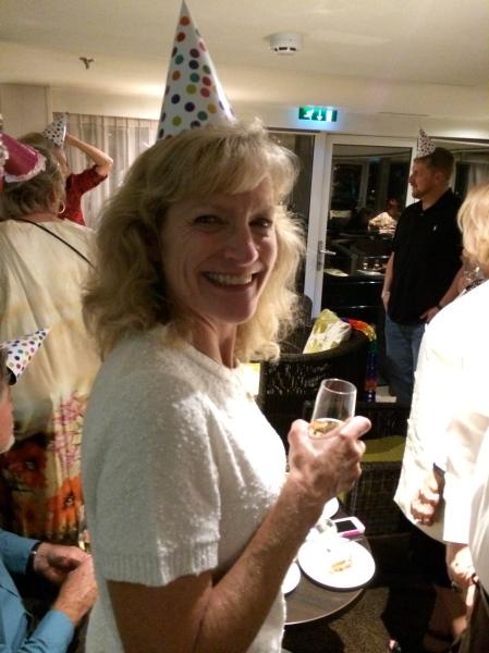 Dallas celebrating Ann's birthday, 10-18-14