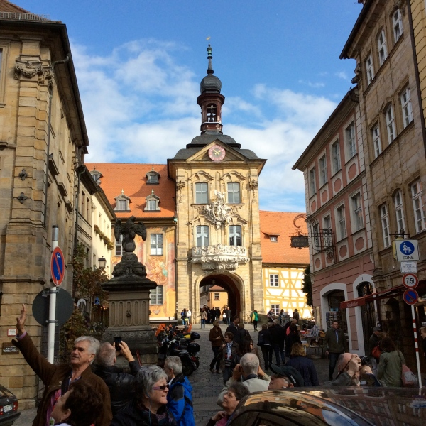 Looking toward the Altes Rathaus