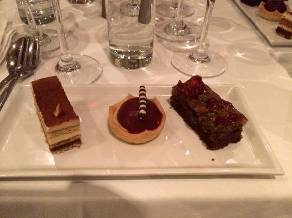 Three samples of desserts, 10-22-14