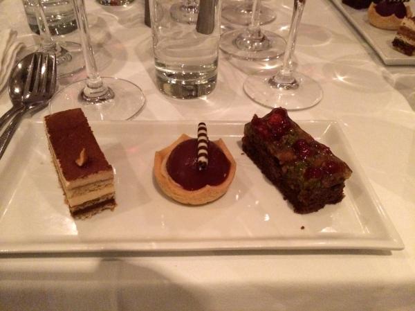 Three samples of desserts, 10-22-14