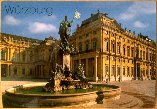 Würzburger Residenz with Franconia Fountain (postcard)