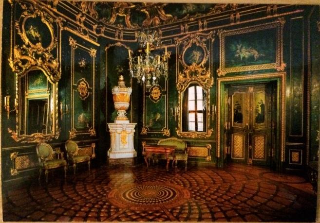 Grün lackiertes Zimmer (Green painted Room), (postcard)