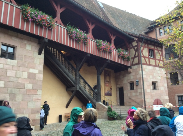 The courtyard area inside the archway, 10-22-14