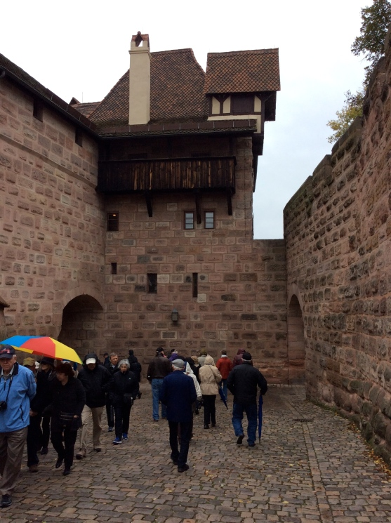 Exiting the castle grounds, 10-22-14