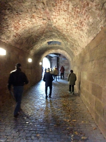 Back through the tunnel, 10-22-14