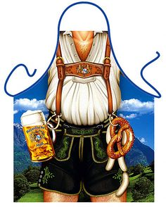 Bavarian Oktoberfest apron like the ship's crew wore, (photo from pinterest.com)