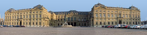 The Würzburger Residenz, front (photo from Wikipedia)