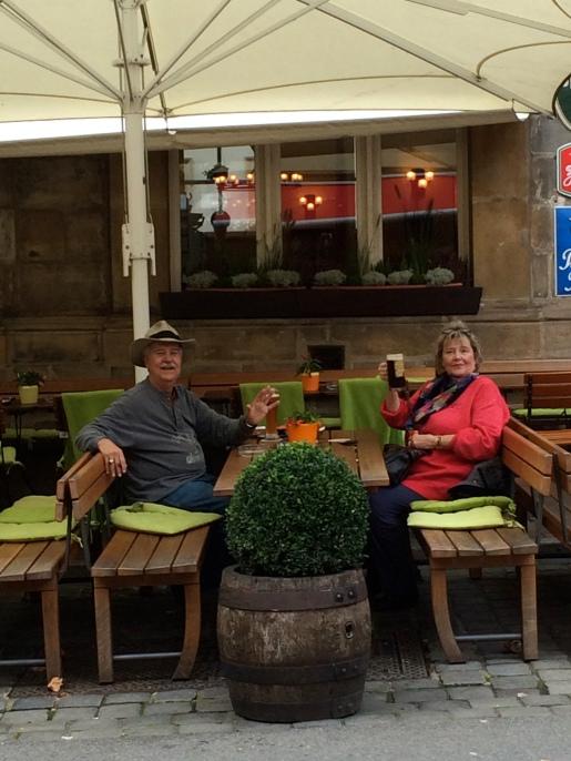 Scott & Ann taking a break, 10-21-14