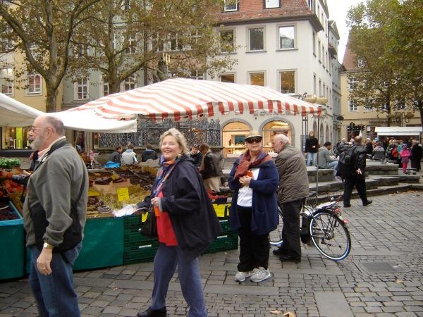 Dan, Ann & Barb in the market square, 10-21-14