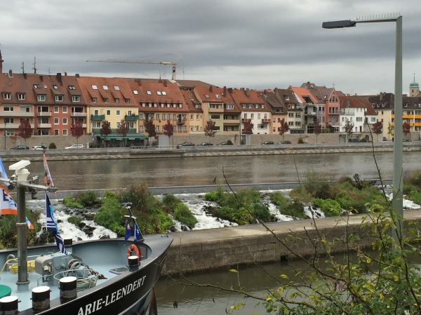 The River Main, near the Alte Mainbrücke (Old Main Bridge), (photo taken by Bill G.)