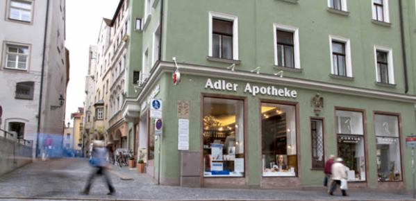 The Adler-Apotheke, (photo from adlerapotheke-regensburg.de)
