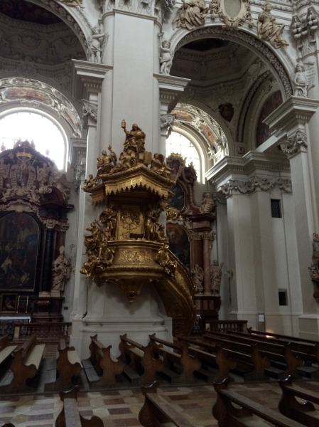 The pulpit inside the Cathedral, 10-24-14