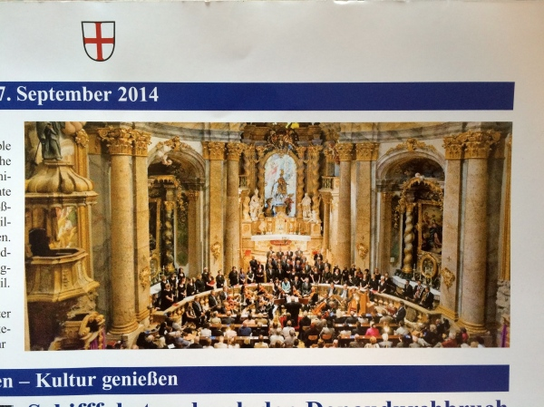Cantate Domino in Sept. 2014 (photo from Weltenburger Wirtshaus-Bladl brochure)