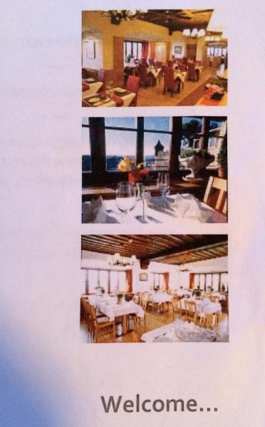 Photos of the Panorama Restaurant on the menu, 10-24-14