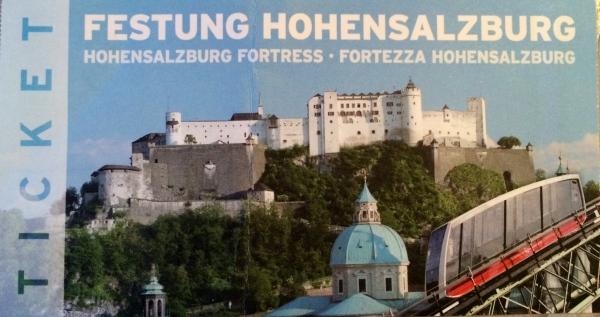 My ticket for the Funicular (tram going up to the castle), 10-24-14