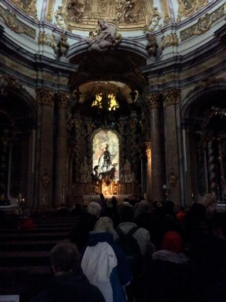 The altar inside the church, 10-23-14