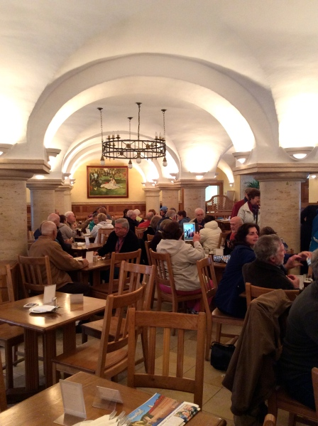 Inside the brewery restaurant, 10-23-14