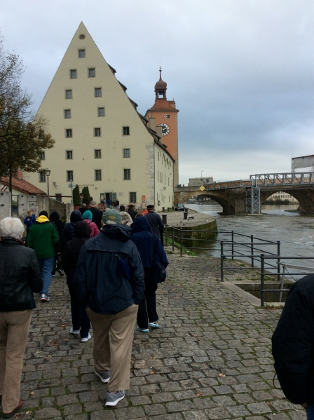 The Salzstadel (Salt House) with the Brücketurm (Bridge Tower) behind, 10-23-14