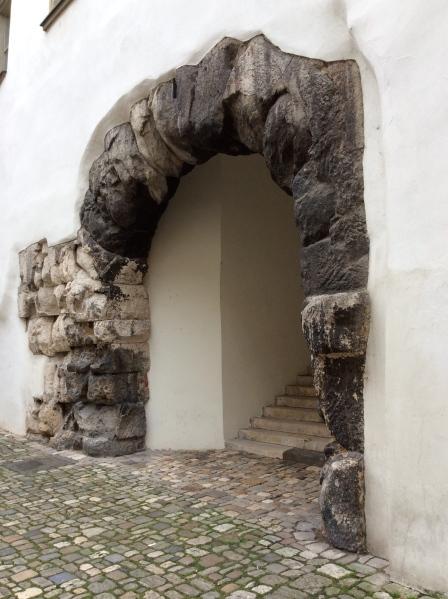 Here is Porta Praetoria, the old Roman gateway, 10-23-14